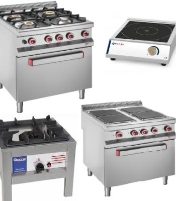 Fourneaux-Plaques de cuisson- Feux-Cuisinières