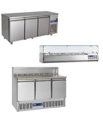 Désertes réfrigérées-tables réfrigérées-Meubles pizza- Saladettes- Structures réfrigérées